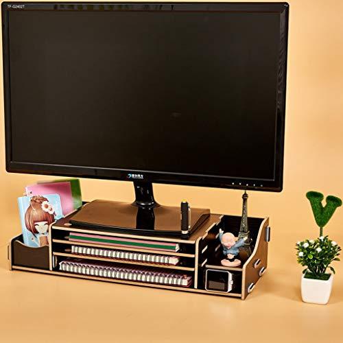 HKPLDE Monitorständer/Holz Bildschirmständer belüfteter Ergonomisches Stabiler mit Stauraum Bildschirmerhöhung Für Heim und Büro-G -