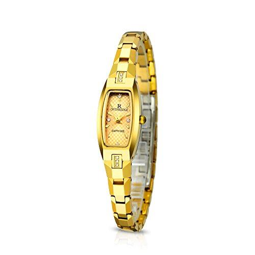 ea6389c51b75 RORIOS Elegante Mujer Niña Relojes de Pulsera Acero de Tungsteno Band  Relojes de Mujer Impermeable