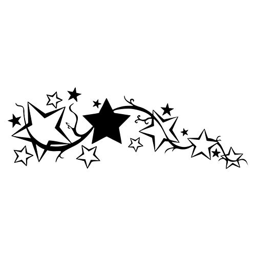 osmanthusFrag Helle Sterne Reflektierende Aufkleber Dekor für Windows, LKW, Autos, Motorrad, Laptops, Macbooks, Etc. Black