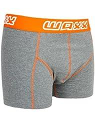 WAXX ropa interior gris oscuro Algodón Hombre Boxer pantalones cortos–Medium