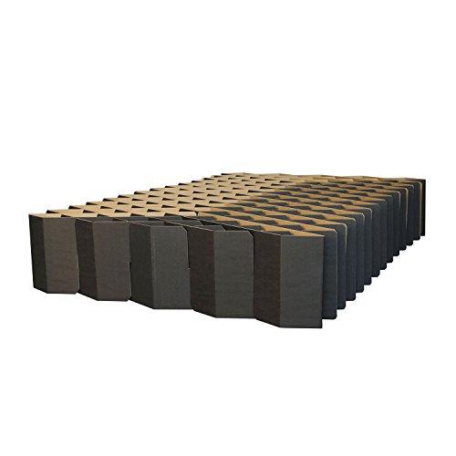 ROOM IN A BOX | Bett 2.0 M/S: Nachhaltiges Klappbett aus Wellpappe in der Größe 140 x 200 cm und alle Zwischengrößen. Ideal auch als praktisches Gästebett, da leicht verstaubar und ein Lattenrost nicht benötigt wird.