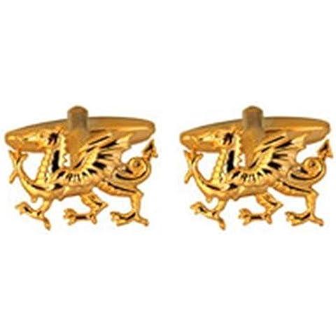 Dragón Galés fuera de la placa de oro de gemelos