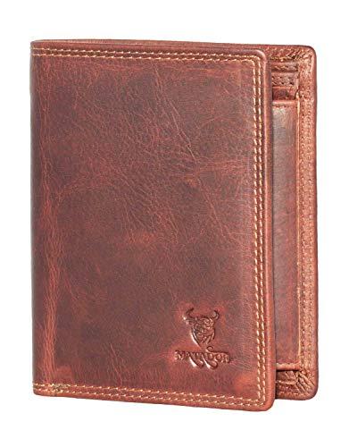 Matador Herren Damen Leder Geldbörse Portemonnaie Brieftasche Hochwertig Rindsleder Hochformat -