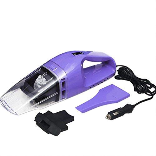 Netzkabel Trockner Lange (SUMHE Auto Staubsauger Mini Handheld Staubsauger High Power Nass Und Trocken Multifunktions DC12V 75 Watt Sicherheit Wasserdicht ABS Mit 3 Mt Netzkabel (Lila),Purple,M)
