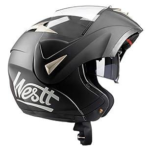 casco: Westt® Torque · Casco Moto Modular con Doble Visera para Ciclomotor Motocicleta ...