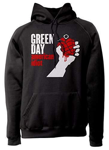 LaMAGLIERIA Unisex-Hoodie Green Day - American Idiot - Kapuzenpullover Rock Band, M, schwarz Band Sweatshirt
