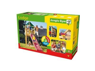 Jungle Gym Spielturm Lodge Baupaket Koffer ohne Rutsche und Holz