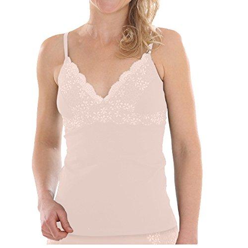 Comazo Earth Damen BH-Hemd mit Spitze Bio-Baumwolle/Elasthan, Make up, Gr. 36