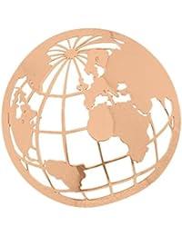 MY iMenso 33-0728 tierra/cubierta del mundo Insignie plata chapado en oro rosa 33 mm