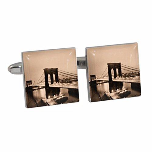 Brooklyn Bridge Szene Manschettenknöpfe