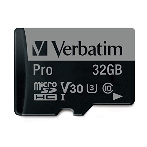 Verbatim pro flash card microsd, 32gb, nero