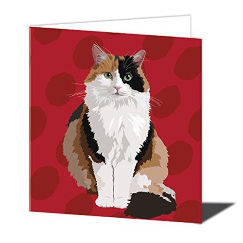 deliktrechts Cat Grußkarte von Leslie Gerry