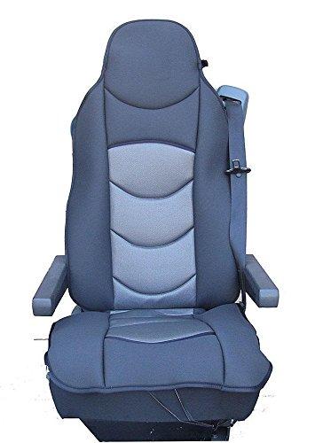 1x Sitzauflage LKW-Sitz Sitzbezug Sitzschoner Grau Polyester Hochwertig Neu Passgenau