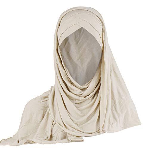 LSAltd Frauen Indien Hut muslimischen Rüschen Krebs Chemo Beanie Turban Wrap Cap Schal Schal