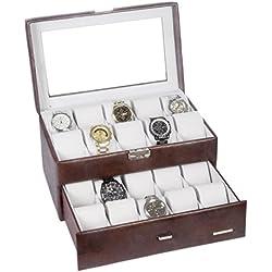 Rowling 20slots Watch box jewellery box Watch Bracelet Bangle Box Display Storage Box case