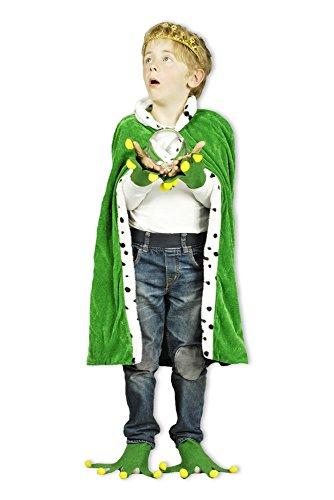 Kostüm Froschkönig für Kinder Umhang 80 cm - Hände und Füße