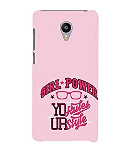 For Meizu M3 Note girl power your rules your style ( girl power your rules your style, pink background, good quotes ) Printed Designer Back Case Cover By FashionCops