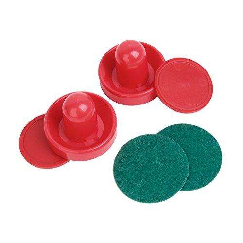 2-air-hockey-pushers-2-pucks-table-hockey-handles