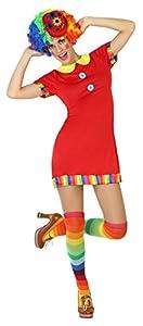 Atosa- Disfraz vestido payasa, Color rojo, M-L (16418)