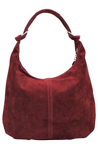 da563e2bf817cd AMBRA Moda Damen Wildleder Schultertasch Damen Handtasche Hobo-Bags Shopper  Beuteltaschen Veloursleder Suede Ledertasche DIN-A4 42cm x 35cmx 4cm WL803,  ...