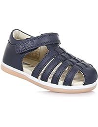 BOBUX - Chaussure Step Up I-Walk Skip bleue en cuir transpirant, extrêmement flexible, bébé garçon ou fille