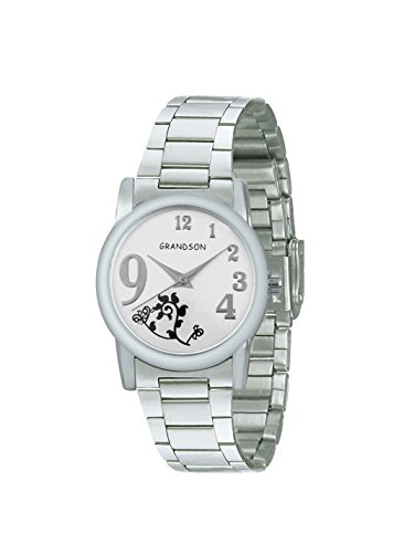 Grandson White Casual Analog Watch For Girl's And Women's