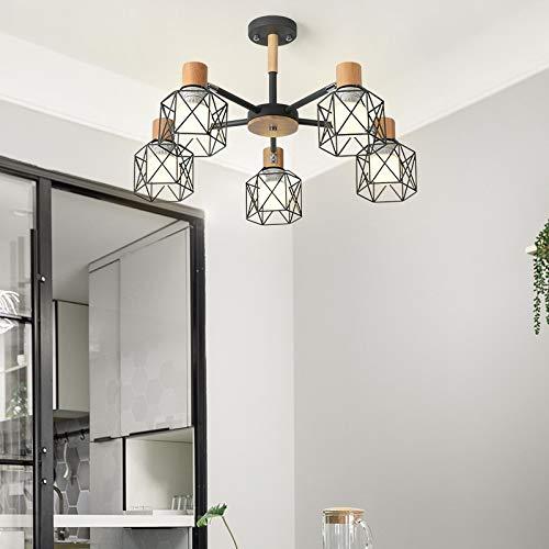 Einfache Studie führte Lampe Schlafzimmer Esszimmer Lampe 5 grau mit monochromen LED warmes Licht 9 Watt Birne -