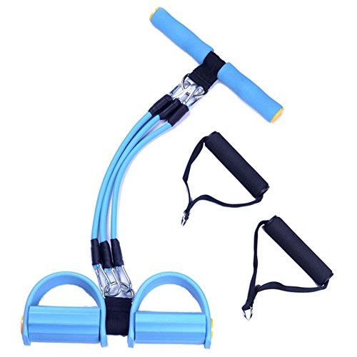 Ueasy Pérdida de Peso Cuerda para abdominales Zapatillas con asa banda de resistencia multifunción Pierna de Ejercicios dominadas VariGrip–Ejercitador de abdominales Azul azul