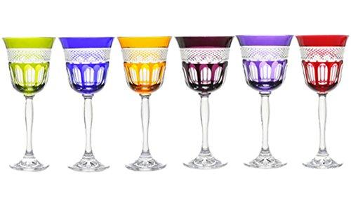 Cristal de Paris - COFFRET 6 VERRES COULEUR MIREILLE N 2 - Cristal de Paris - 12274