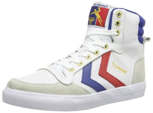 Hummel Stadil, Chaussons montants Adulte Mixte Blanc (White/Blue/Red)