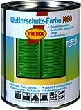 Pigrol Wetterschutzfarbe K60 - 2,5L - hellgrau Holzfarbe Deckfarbe