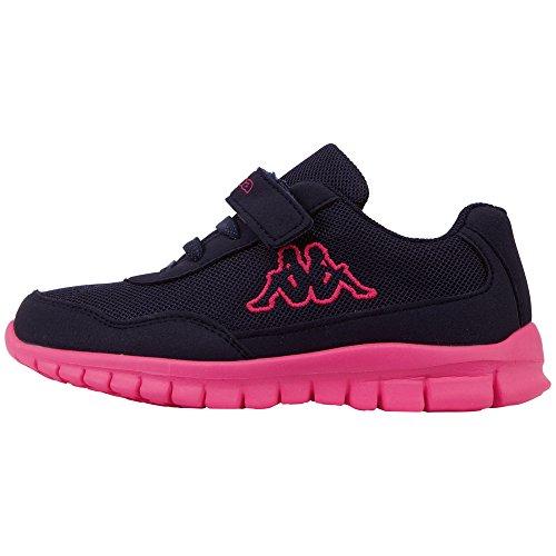 Kappa Unisex-Kinder Follow BC Sneaker, Blau (Navy/Pink 6722), 28 EU