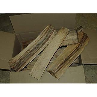 Madera de haya en cepas de 50 cm de longitud en caja de 18 kg.