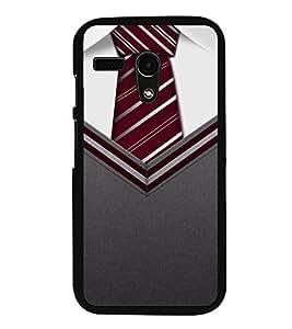 Fuson Premium 2D Back Case Cover Mr.Perfect With Multi Background Degined For Motorola Moto G X1032::Motorola Moto G (1st Gen)
