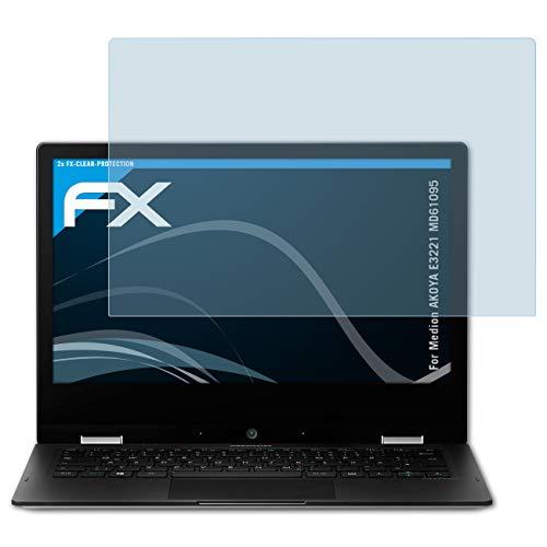 atFolix Schutzfolie kompatibel mit Medion AKOYA E3221 MD61095 Folie, ultraklare FX Bildschirmschutzfolie (2X)