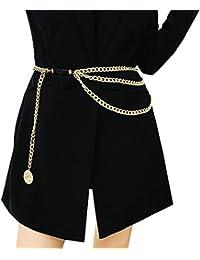 eb21c93c87a Juland Multicouche Chaîne de Taille en Alliage Body Chain pour Ceinture  doré Femmes Pendentif chaîne du