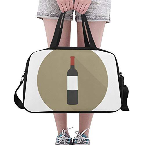 Yushg Rotwein Meister Getränk Beifall Gewohnheit große Turnhalle Totes Eignung Handtaschen Reise Seesäcke mit Schultergurt Schuhbeutel für Übung Sport Gepäck für der Frauen im Freien