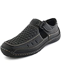 Albertiano Trendy Fashion Men's Sandal And Floaters (Black Color)
