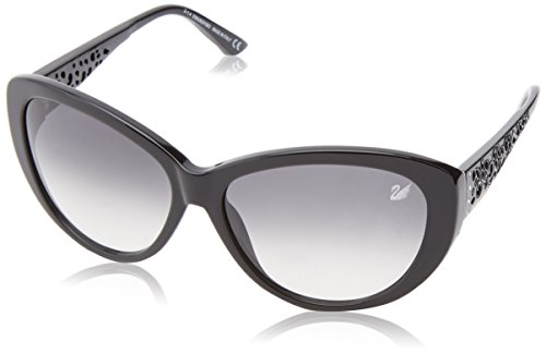 Swarovski sonnenbrille sk0053 6101b, occhiali da sole donna, nero (schwarz), 61