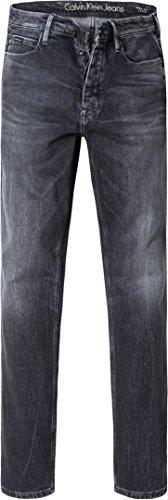 Calvin Klein Jeans Herren Jeans Denim-Hose, Größe: 34/34, Farbe: Grau - Calvin Klein Herren-stoffhosen