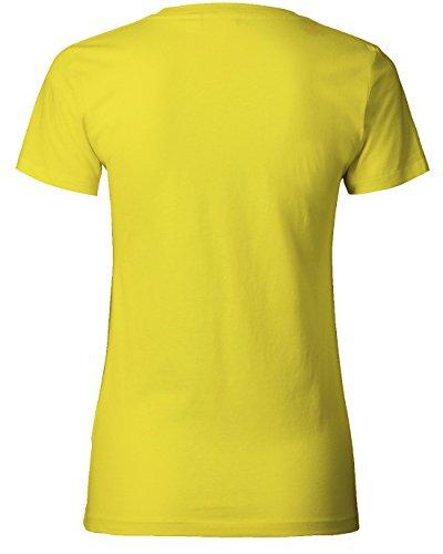 Ich bin die verrückte Frau die keine Angst hat eingesetzt zu werden - WOMEN T-SHIRT Gelb