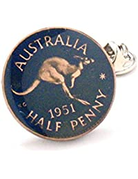 Australien Münze Krawattennadel Anstecknadel Kangaroo Australian Sydney Brisbane Melbourne Perth Pacific Polynesian