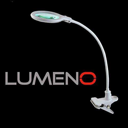 Lumeno 6803 Lupenleuchte LED Klemmleuchte mit 32 SMD-LEDs, 4 Watt, 300 Lumen Ideal für z.B....