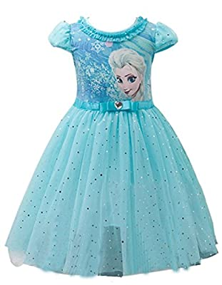 Eyekepper Vestido de Tutú con Dibujo de Princesa Elsa para Niña