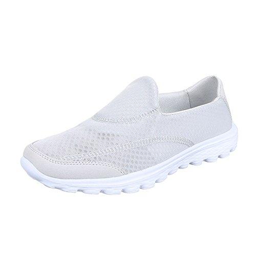 Ital-Design - Pantofole Donna Grigio chiaro
