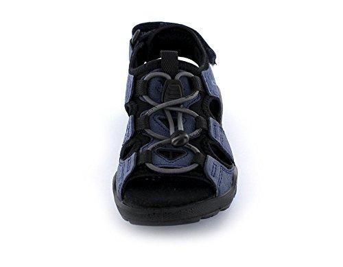 Ecco Biom Sandal - Jungen Sandalen aus Leder/Textil in true blue/black (schwarz/blau)