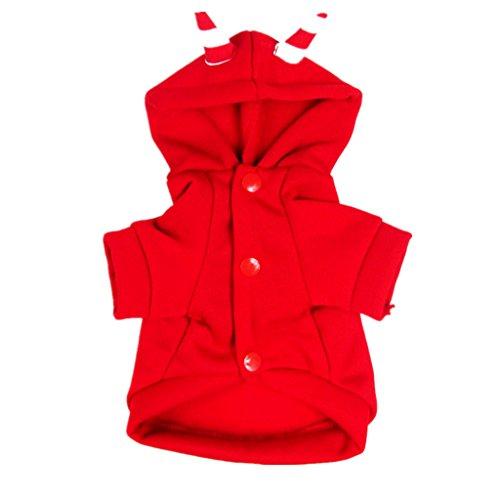 Xl Kostüm Devil Dog - F Fityle Luminous Devil Winter Pet Dogs Overall Kleidung Kostüm Bekleidung Geschenk Rot/Schwarz - Rot, XL