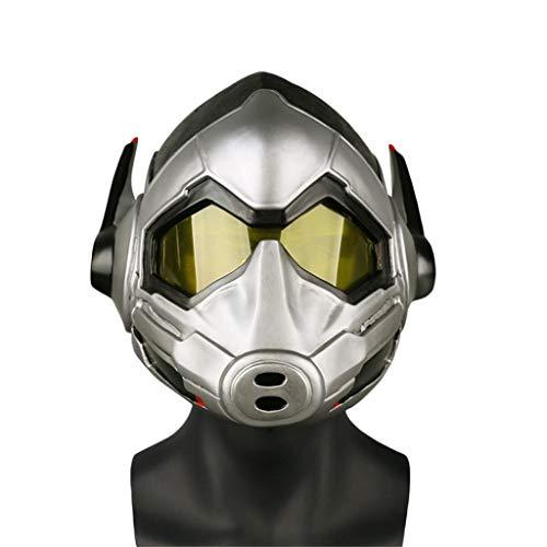 GanSouy PVC Wasp Helm, Ant-Man und die Wasp, Wasp Maske Glowing Maske Cosplay Halloween Superheld Helm für Damen und Herren,Wasp-<61cm (Avengers Wasp Kostüm)