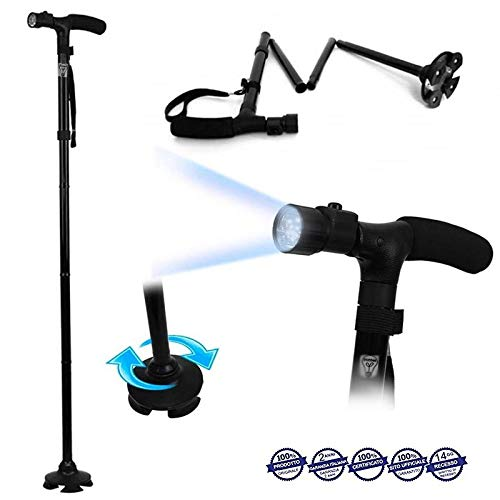 Magic Cane - Baston paseo plegable luz LED