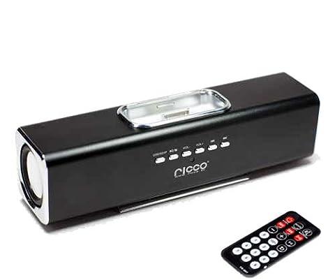 (Geschenkkarton) iPhone 4 4G G4 2G 3G 4G 3GS 3G S iPod touch nano Ladegerät Lautsprecher und Docking System (Schwarz)